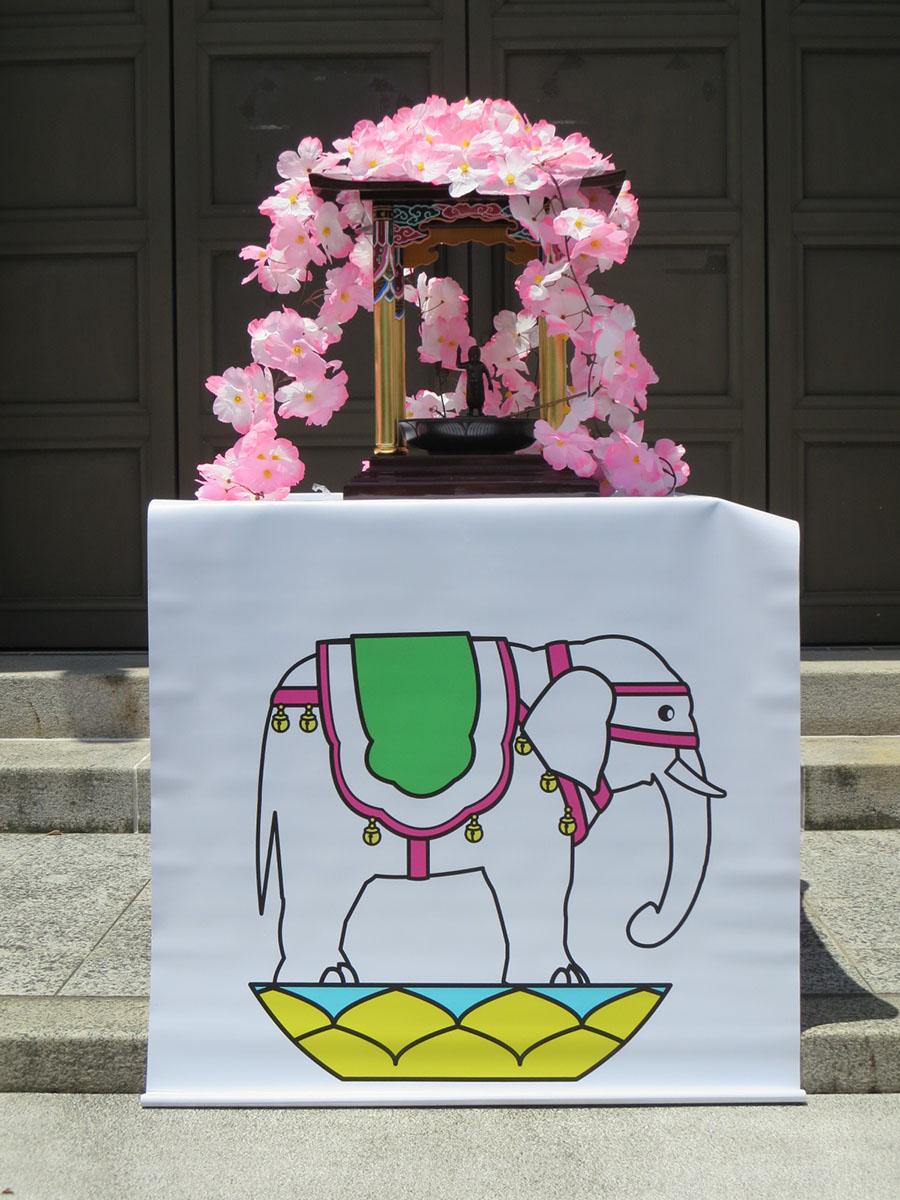誕生仏と白象